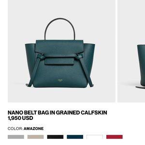 New Celine grained calfskin nano belt bag amazon